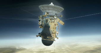 Cassini floats in space