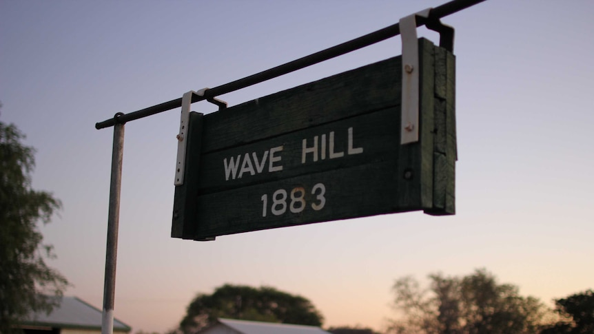 Wave Hill station sign.