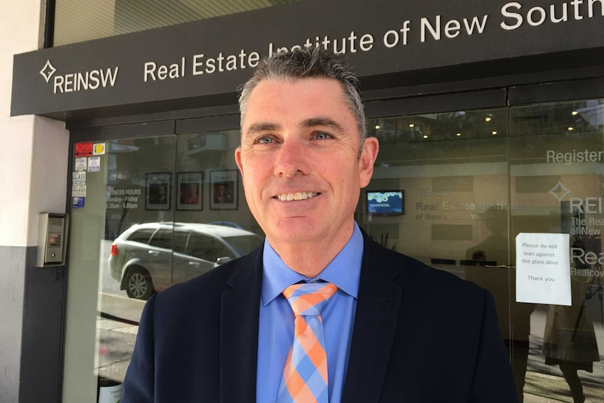 Chief Executive of the Real Estate Institute of NSW Tim McKibbin.