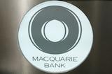 Macquarie Bank logo in central Sydney
