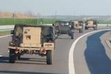 US paratrooper convoy approaches Poland-Ukraine border