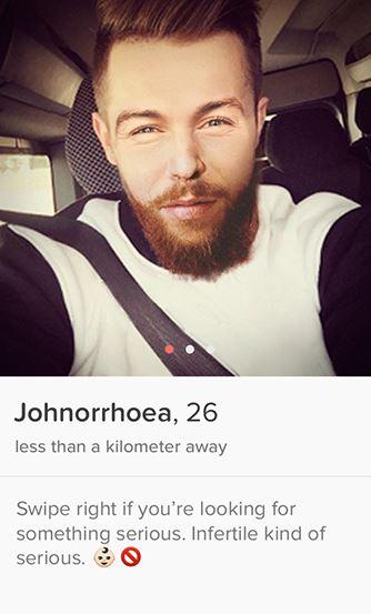 Tinder screenshot of fake profile