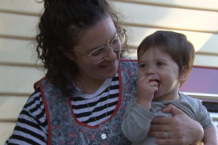 Photo: Francesca and her son proxy
