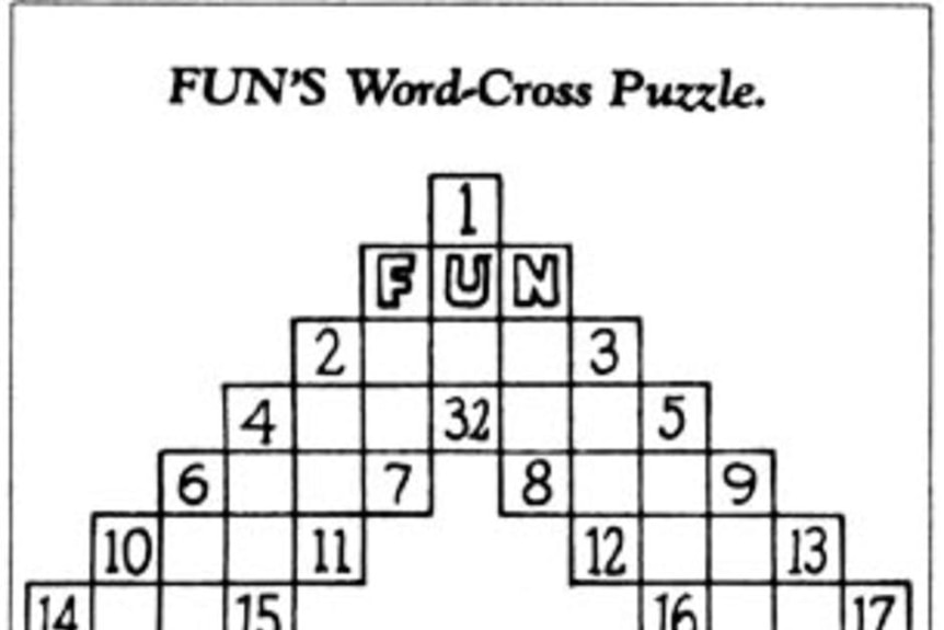 The first crossword puzzle, by Arthur Wynne