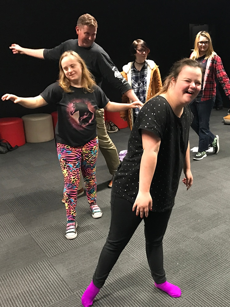 Participants having fun at the St Giles acting class, Launceston.