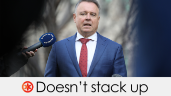 Joel Fitzgibbon's claim doesn't stack up