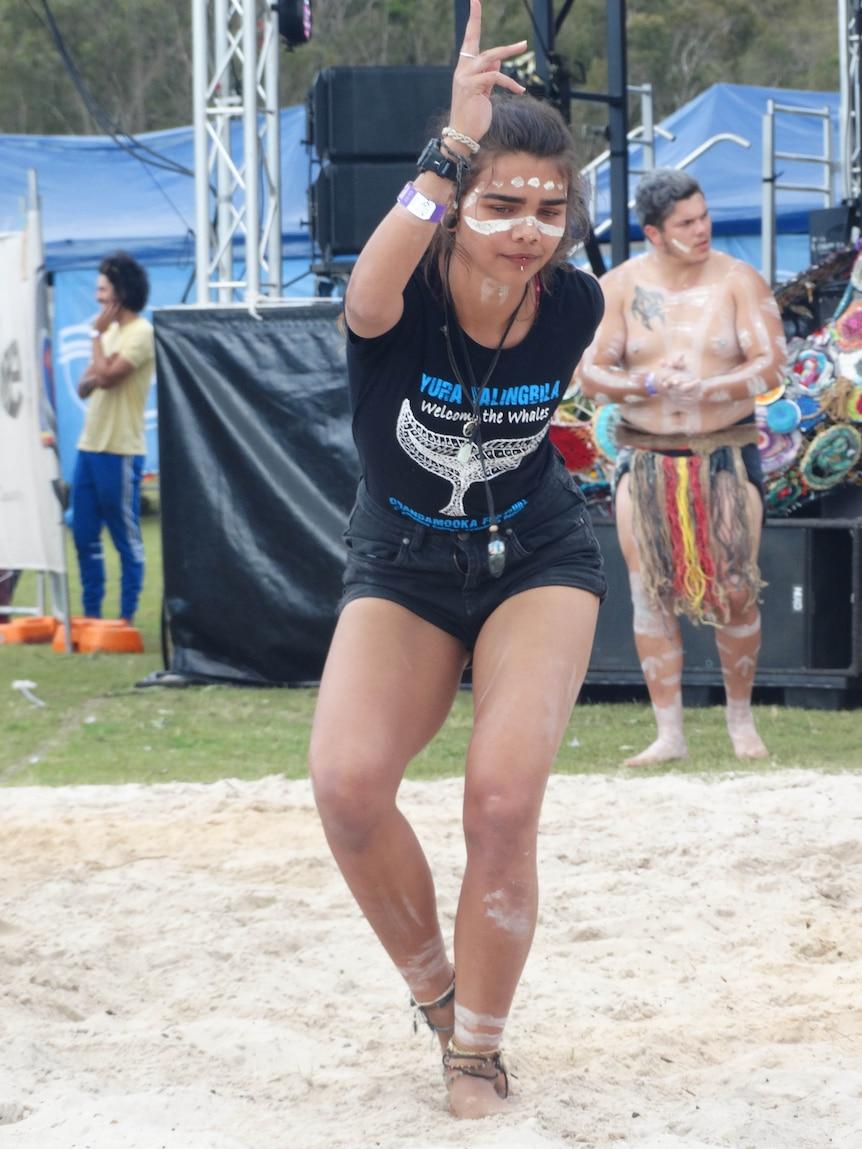 A dancer at Quandamooka Festival