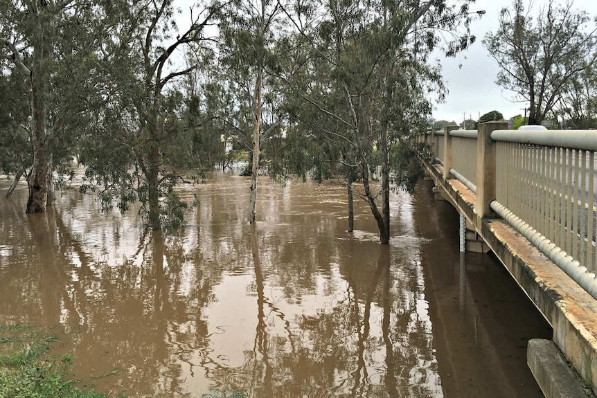 Floodwaters at Charlton in Victoria's north-west