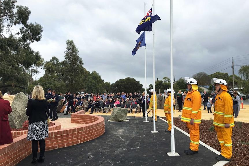Naracoorte's volunteer firefighter memorial