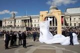 Palmyra replica arch unveiled in Trafalgar Square, London