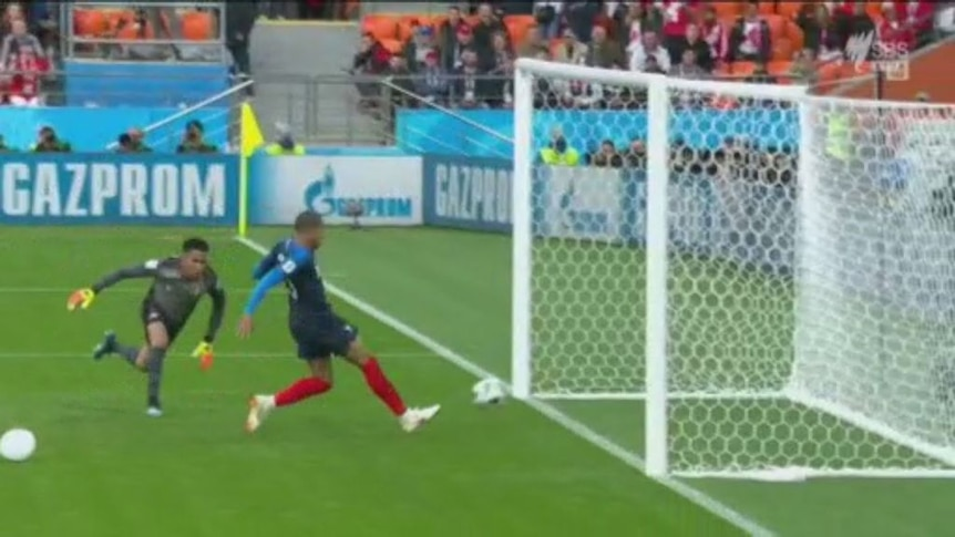 Mbappe scores his maiden World Cup goal