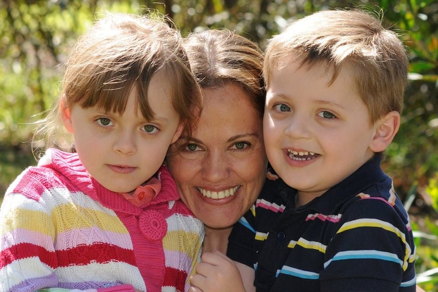 Maria Claudia Lutz and her children Elisa and Martin
