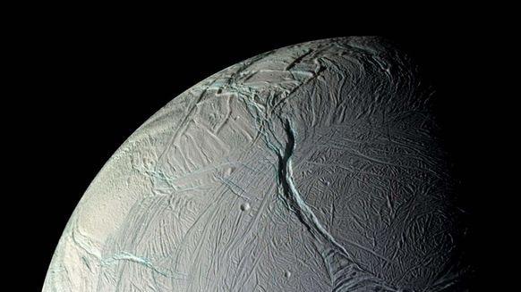 One of Saturn's moons, Enceladus