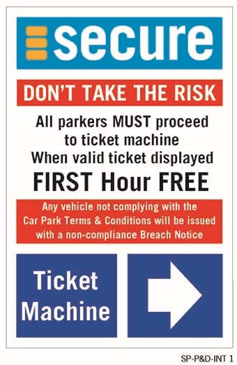 Sign used at Secure Parking sites that set the rules of the carpark.