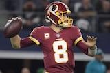 Washington Redskins quarterback Kirk Cousins throws a pass