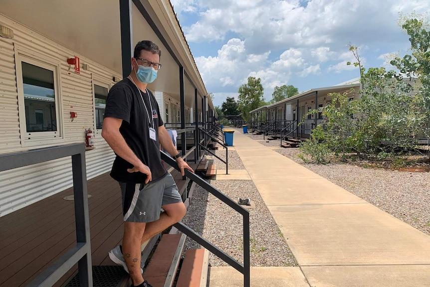 Jake Potter at Howard Springs quarantine facility