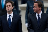 Negotiations: Nick Clegg (left) has held talks with David Cameron (right)