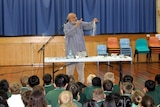 Indian toymaker and science educator Arvind Gupta at Charnwood-Dunlop School in Canberra, ACT.