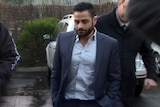 Ali Fahour arrives for a tribunal hearing in Melbourne.