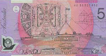 Picture of five dollar note