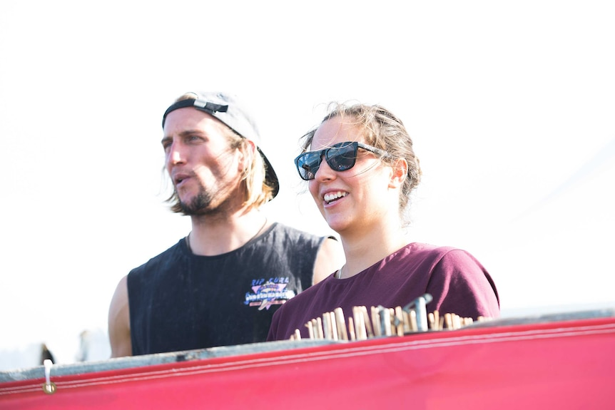 Surfing siblings Owen and Tyler Wright