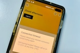 CBA banking app on a phone screen