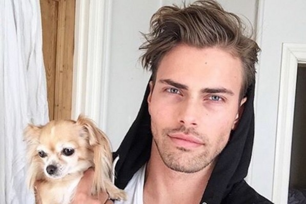 Man with a dog from Hot Dudes With Dogs Instagram