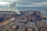 An aerial view of the Arrium premises at Whyalla.