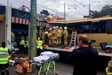 Bus crashes into Montague St overpass