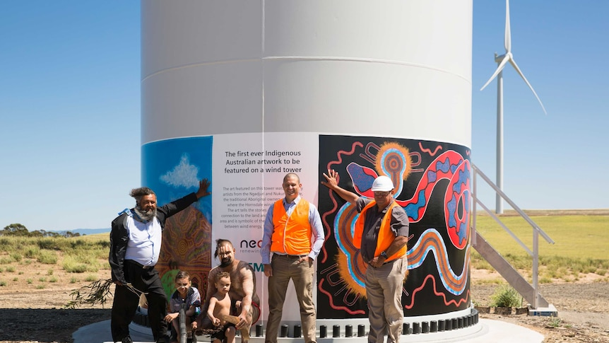 Ngadjuri and Nukunu traditional owner, the Minister for Aboriginal Affairs Kyam Maher and representatives from Siemens Australia were on site to celebrate the milestone event.