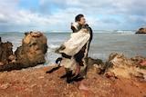 Michelle Jacquelin-Furr and possum cloak