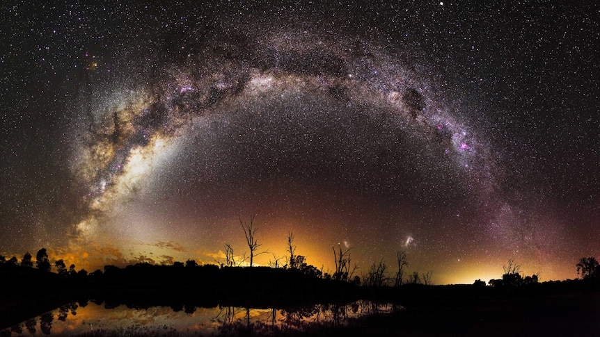 Arch of stars over dam