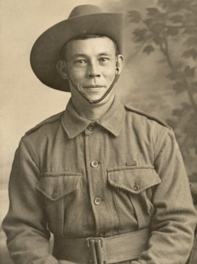 An old picture of Private William Edward Sing DCM.
