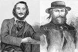 Paintings of infamous bushrangers Frank Gardiner (left) and Ben Hall (right).