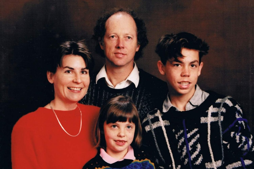 A young Judith McIntyre with her family.