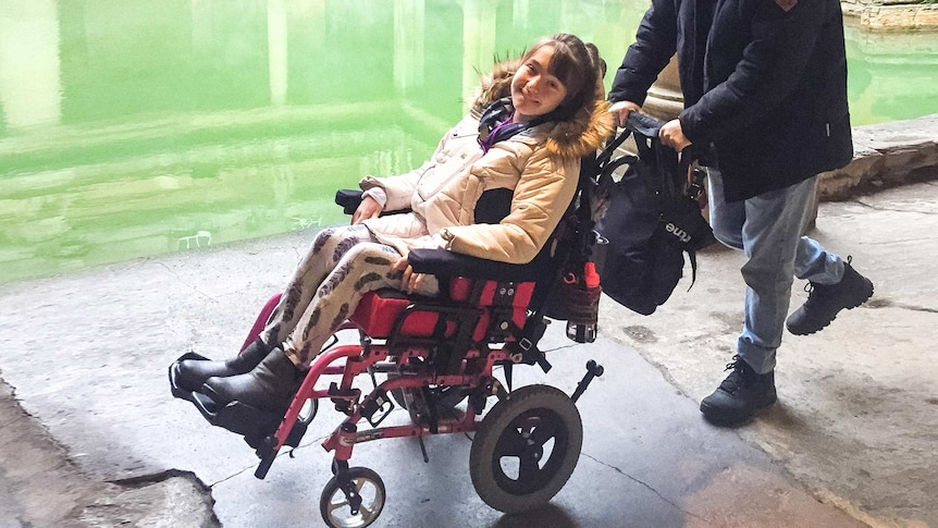 Poppy Pickering at the Roman baths where accessibility was great
