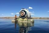 Wreck of a wave energy generator off Carrickalinga.