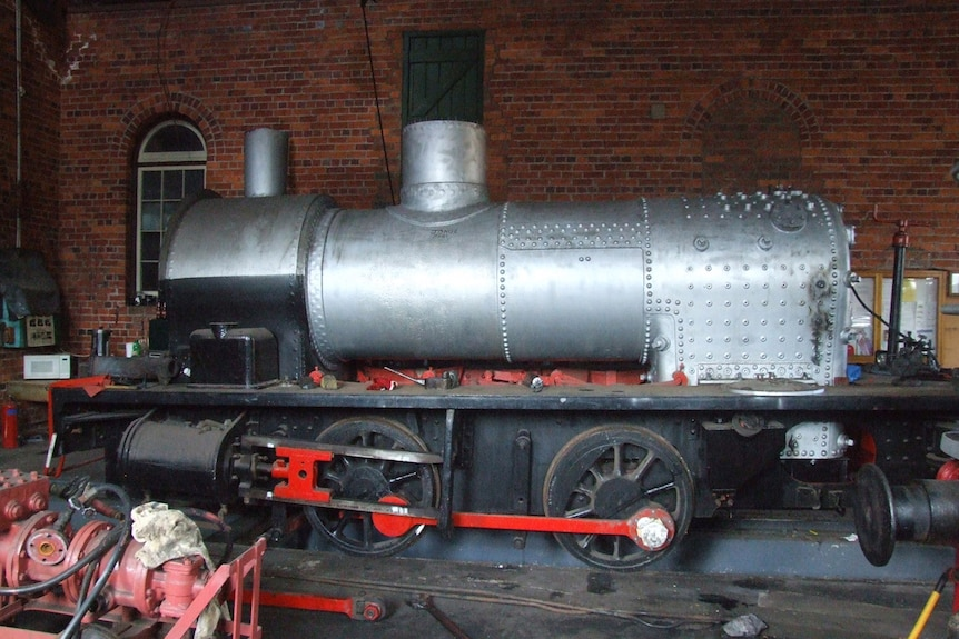 The 1927 steam engine being restored at the Richmond Vale Railway Museum.