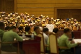 Myanmar's new pro-democracy MPs take their seats in parliament for the first time