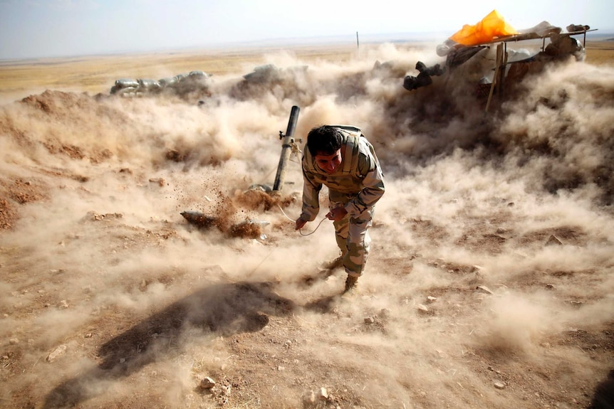 Mortar shells fired at IS