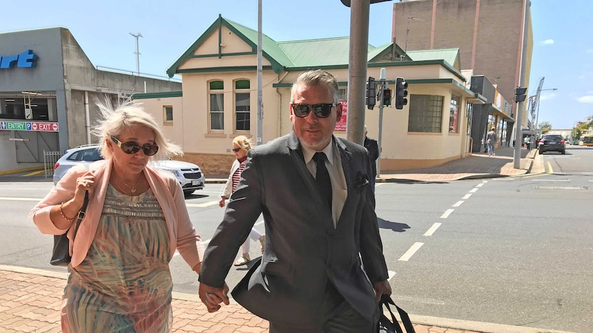 Rob Messenger and his wife Fern arrive at court