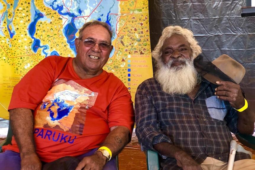 Two men sitting together, one, Gordon Marshall, has a big bushy beard.