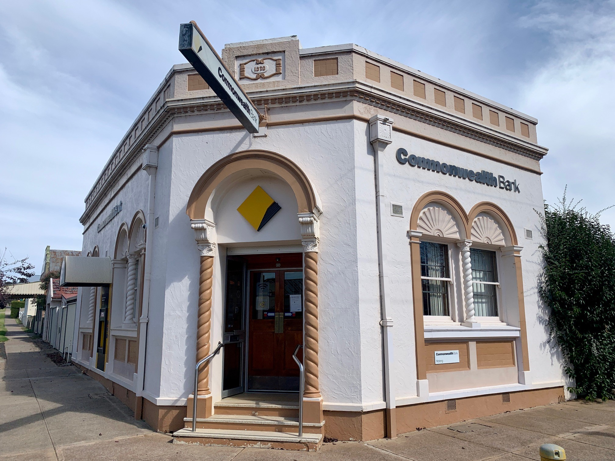 A Commonwealth Bank branch in a historic building.