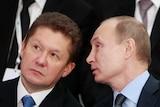 Gazprom CEO Alexei Miller and Russia's president Vladimir Putin