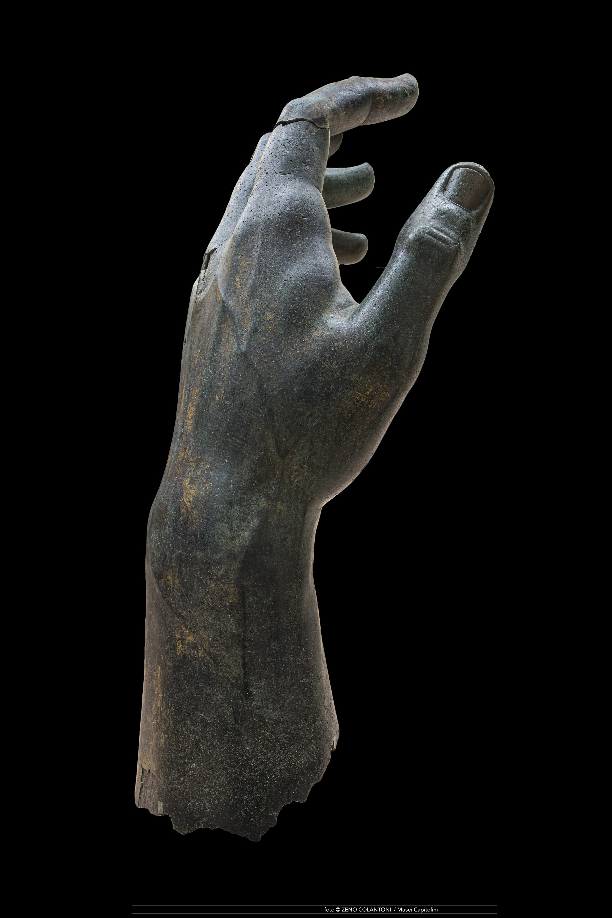 Statue of Roman Emperor Constantine hand
