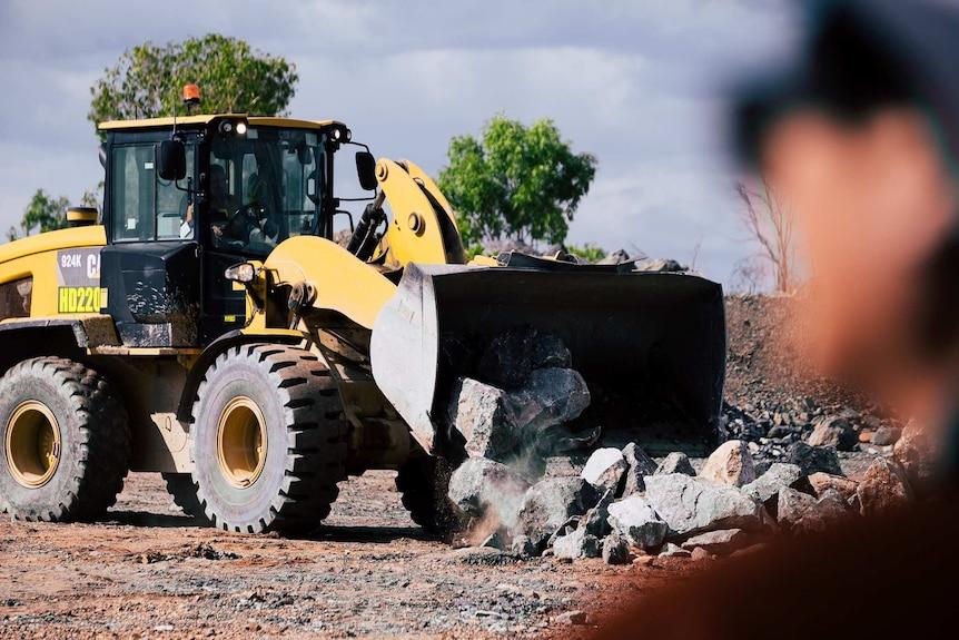Mining machinery at Ranger Uranium mine