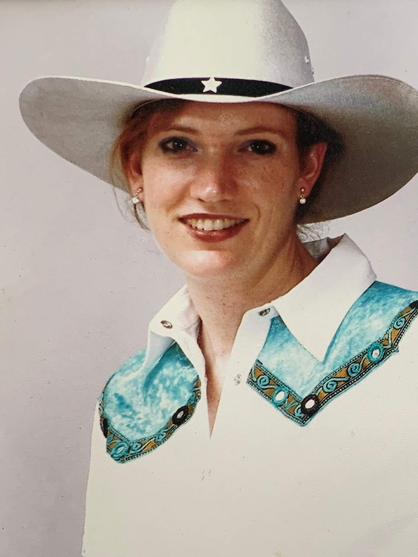 Kate Gill dressed for line dancing