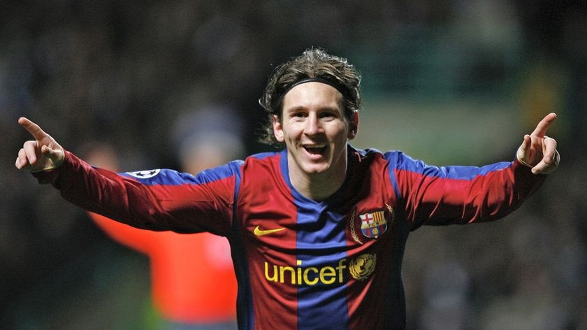 Stellar 2009: Messi helped treble-winning Barcelona lift the Champions League title with nine goals, as well as bagging 23 in La Liga.