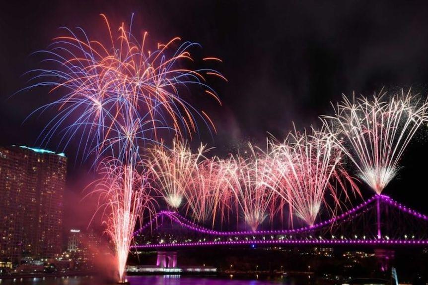 Riverfire lights up Brisbane's sky