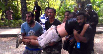 Protester shot in Port Moresby